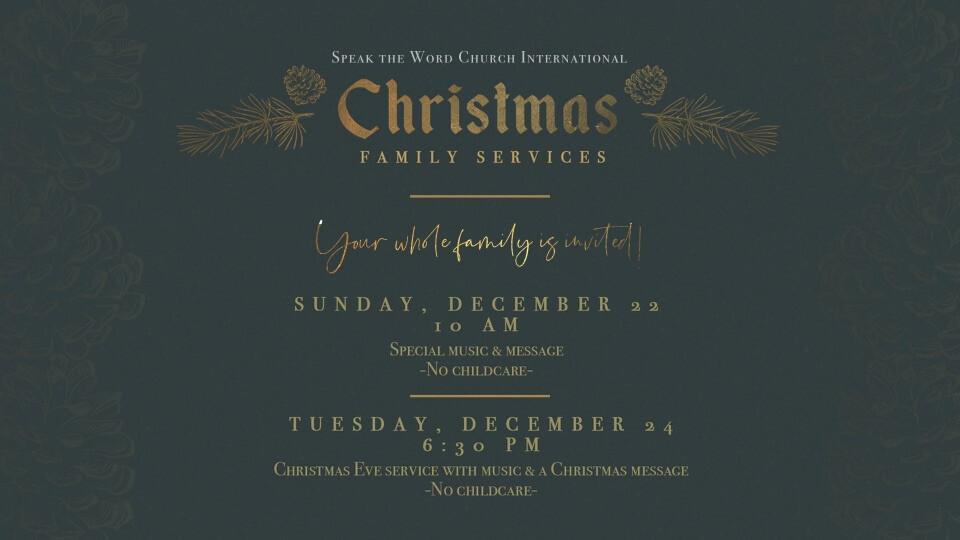 Sunday Christmas Family Service